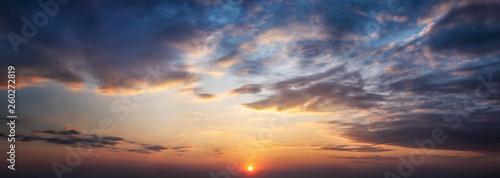 Photo  Dramatic sunset and sunrise sky