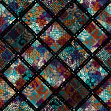 Vector Mosaic Art Pattern. Vec...
