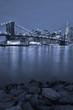 Brooklyn Bridge at night.