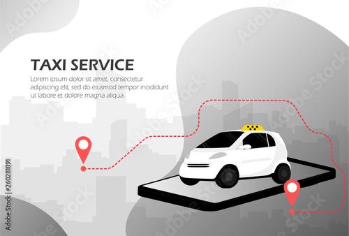 Taxi service Fotobehang