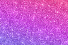 Glitter Horizontal Texture With Pink Violet Color Gradient. Vector
