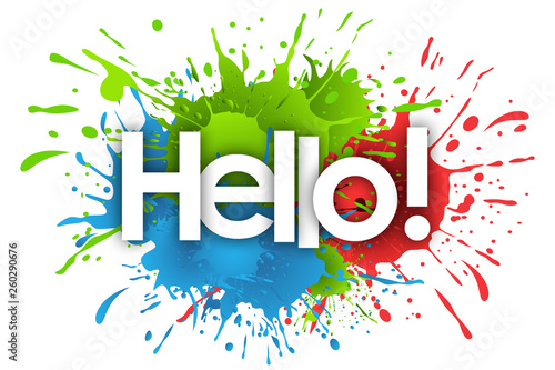 Photographie hello word and splashs