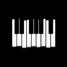 Black White Piano Keys