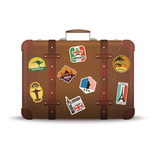 Suitcase Stickers. Old Retro L...