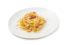 Spaghetti Alla Carbonara, Tipica Ricetta Di Pasta Italiana