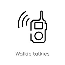 Outline Walkie Talkies Vector ...