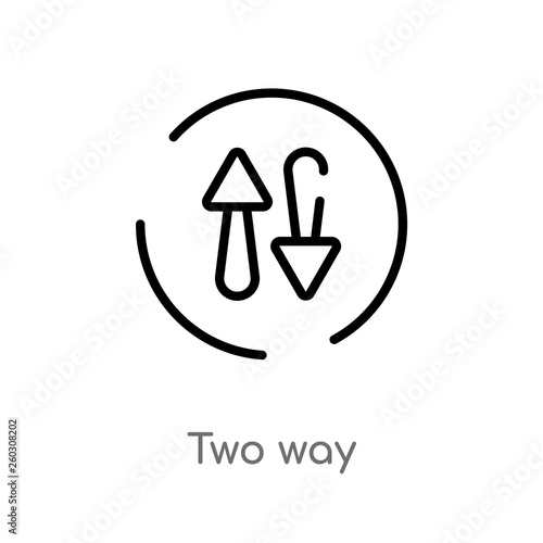 Valokuva  outline two way vector icon