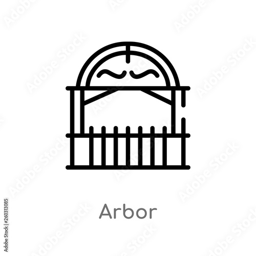 Tablou Canvas outline arbor vector icon