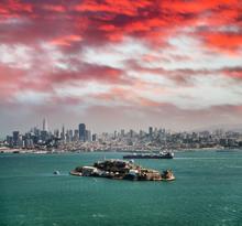 Alcatraz Island At Dusk In San Francisco