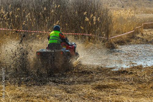 Fototapety, obrazy: extreme sport off-road quad racing