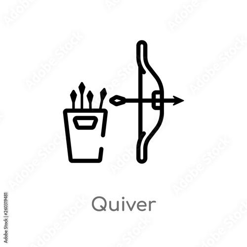 Fotografía  outline quiver vector icon