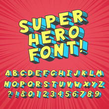Super Hero Comics Font. Comic ...