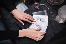 The Fairy Spreads The Tarot Cards, The Magical Meaning Of The Symbols.