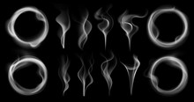 Steam Smoke Shapes. Smoking Va...