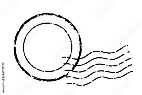 Obraz na plátně 消印・ポストマークのアイコン、イラスト|ベクターデータ