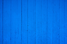 Vintage Blue Wood Background Texture. Old Painted Wood. Blue Abstract Background.