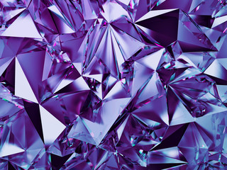 3d abstract violet crystal ...