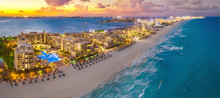 Cancun Beach During Sunset