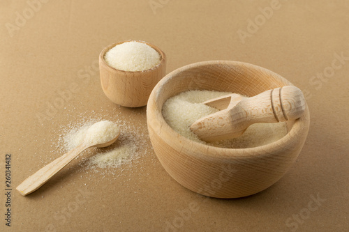 Dry gelatine powder and granules used as a gelling agent Canvas Print