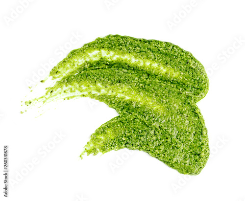 Pesto sauce spread or blob isolated on white background Fototapeta