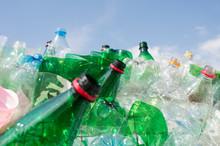 Trash Pile Of Empty Plastic Bottles
