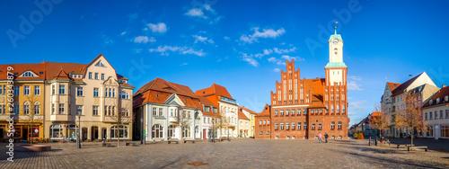 Fototapety, obrazy: Wittstock Dosse, Markt und Rathaus, Mecklenburgische Seenplatte