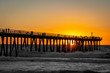 Hermosa Pier during a gorgeous sunset
