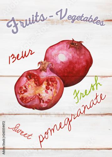 Warzywa i owoce na desce