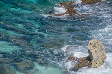 Scenic View Of Caribbean Ocean...