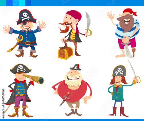 Photo Stands Kids Cartoon Fantasy Pirates Characters Set