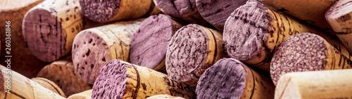Fotografia  wine corks background