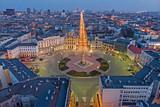 Fototapeta Miasto - Łódź, Poland -view of Freedom Square.