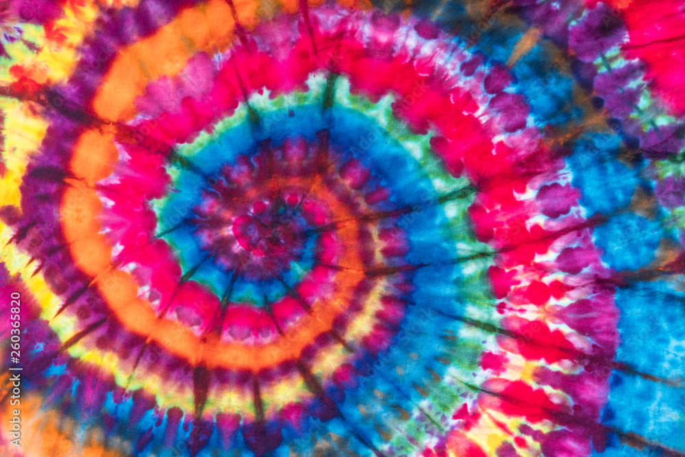 Fototapety, obrazy: Bright Colorful Abstract Psychedelic Tie Dye Swirl Design Pattern.