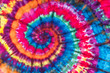 Leinwanddruck Bild - Bright Colorful Abstract Psychedelic Tie Dye Swirl Design Pattern.