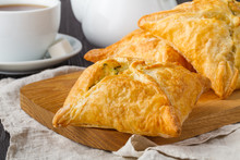 Puff Pastry Triangles Filled W...