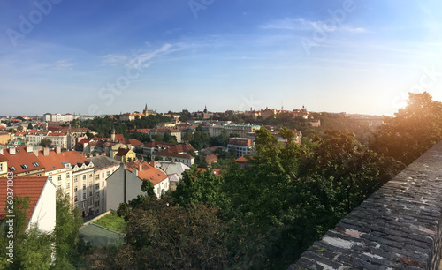 Photo  view from the observation deck on the old city, Prague, Czech Republic