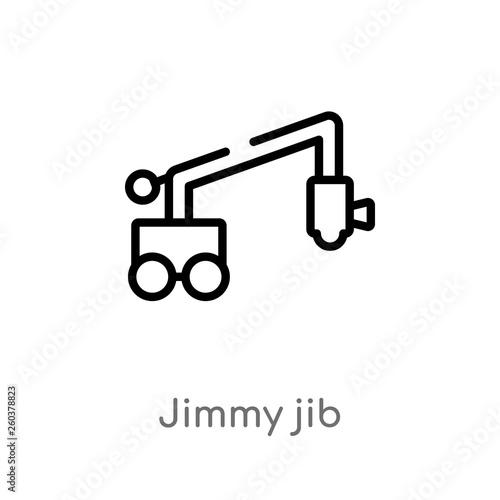 outline jimmy jib vector icon Wallpaper Mural