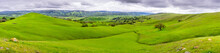 Beautiful Panoramic View Of Green Hills And Valleys In South Of San Jose, South San Francisco Bay Area, California