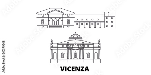 Photo Italy, Vicenza flat travel skyline set