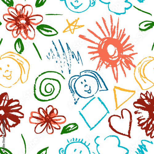 Seamless pattern  Draw pictures, doodle  Beautiful and