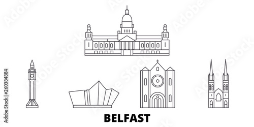 Photo United Kingdom, Belfast flat travel skyline set