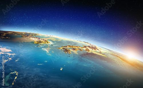 Leinwand Poster Japan pacific sunrise