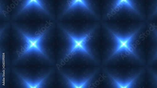 Designer abstract background with glowing individual shapes.