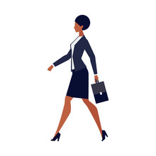 African American Businesswoman With Briefcase