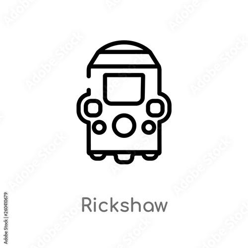 Fényképezés  outline rickshaw vector icon
