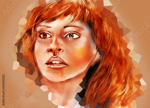 Fotografie, Tablou  Abstract portrait of Hermione Granger