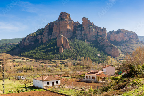 spectacular rocks in the Spanish mountains Canvas Print