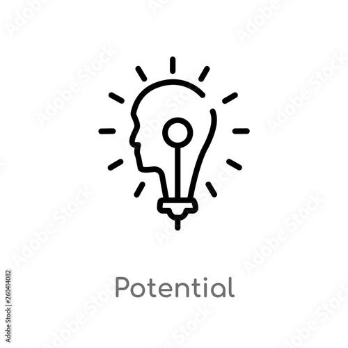 Fotografía  outline potential vector icon