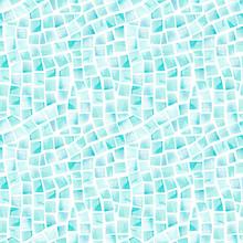 Watercolor Seamless Pattern Of Swimming Pool Tile