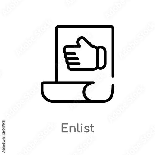 Photo  outline enlist vector icon